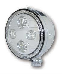 Atlanta LED hovedlys. Chrome