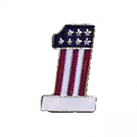 No.1 Flag pin