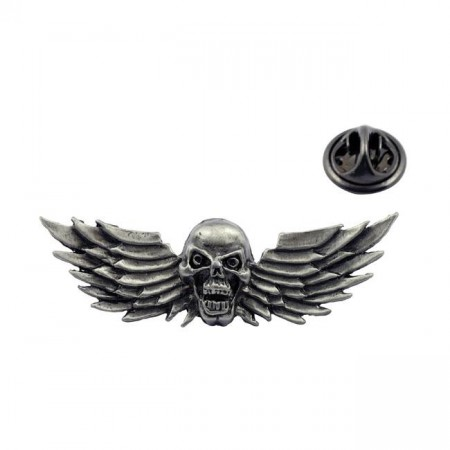 Flying Skull Pin